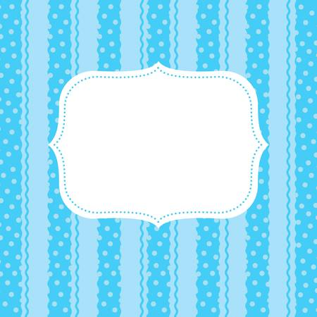 lattice frame: design element  for greeting card Illustration