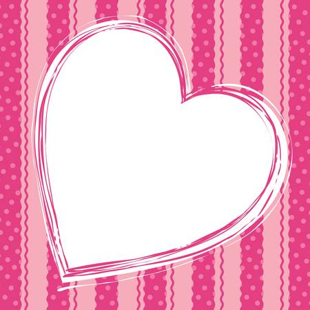 card: Love card with hearts