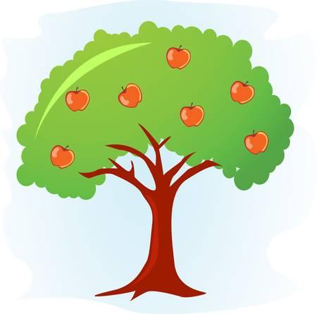 árbol de manzana Ilustración de vector