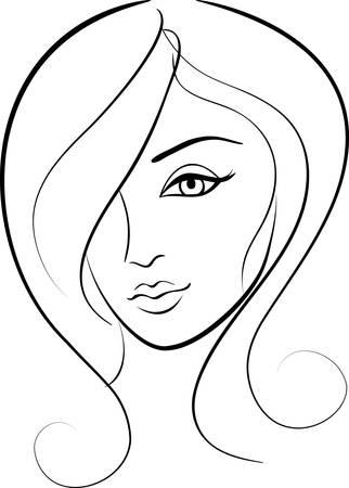 beauty face girl portrait Stock Vector - 7871588