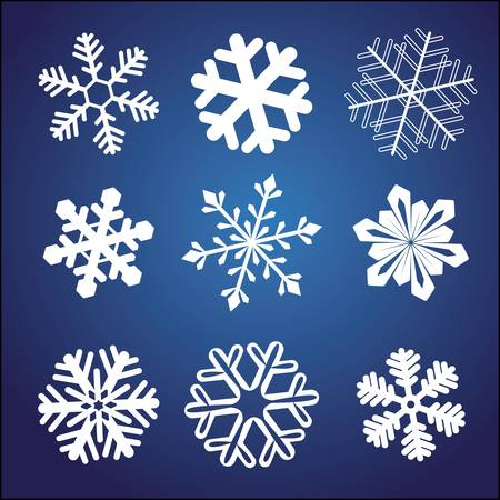 Snowflake set Stock Vector - 7871599