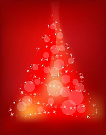 shiny background: abstract christmas tree