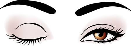 vector vrouw ogen