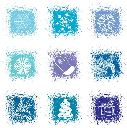 Set christmas icons Stock Vector - 8002217