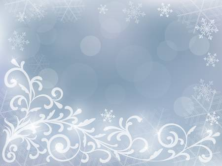 snoflake: abstract silver christmas background