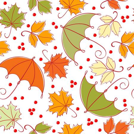 rainy: seamless autumn background
