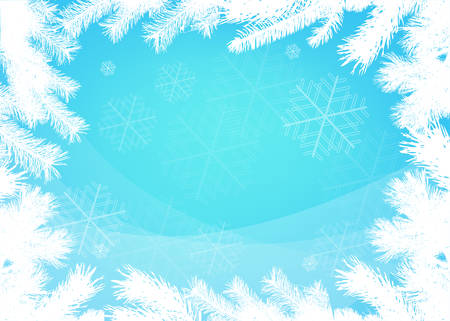 Winter christmas  vector border background Vector