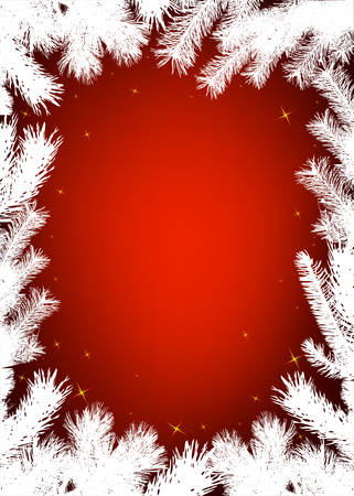 christmas snow: Winter christmas vector border background