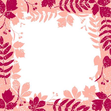 autumn leaves grange border vector colorful clipart Stock Vector - 8107744