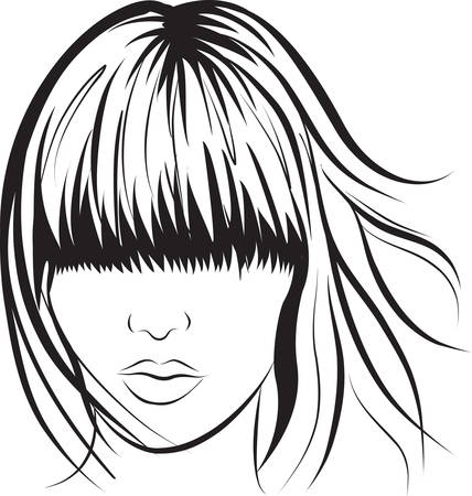 abstract  woman face. Art work illustration Vector