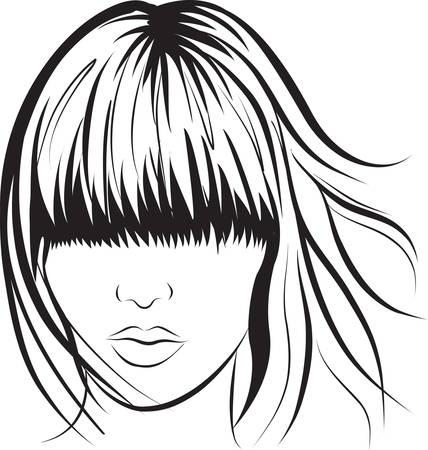 abstract  woman face. Art work illustration Stock Vector - 8250000