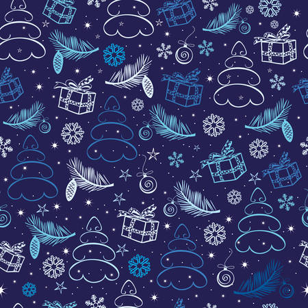 Christmas seamless   abstract background Vector