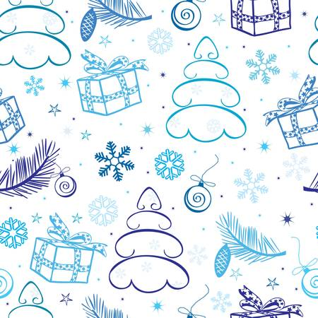 abstract seamless christmas background Vector