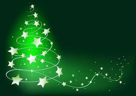 abstract green  christmas tree Vector