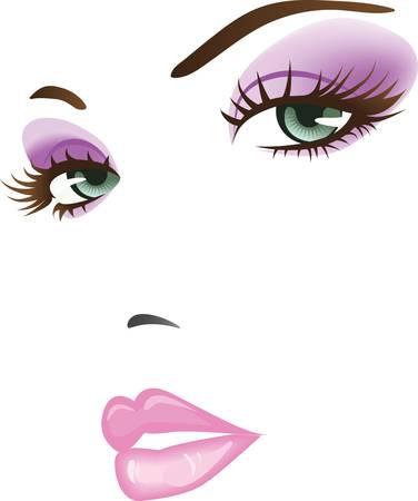 rosto: beleza da face da menina Ilustra��o