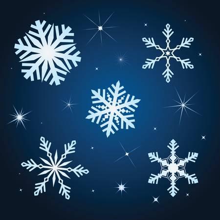 Snowflake winter set illustration Stock Vector - 8340856
