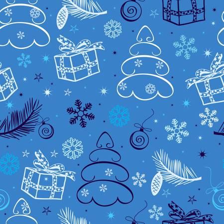 seamless christmas background Stock Vector - 8340860