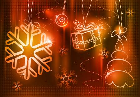 abstract christmas background Stock Vector - 8340863