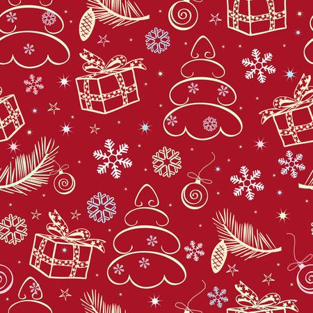 seamless christmas background Stock Vector - 8388266
