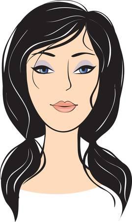 bellezza ragazza faccia. elementi di design Vettoriali