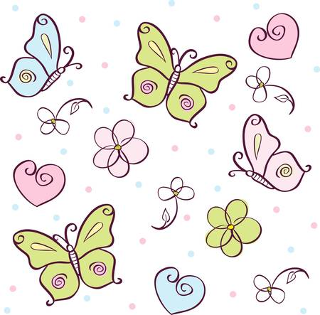 wrapper: background with butterfly