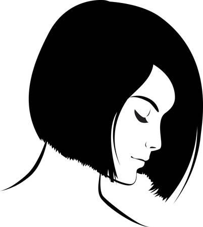 beauty girl face. Art work illustration Stock Vector - 8580019
