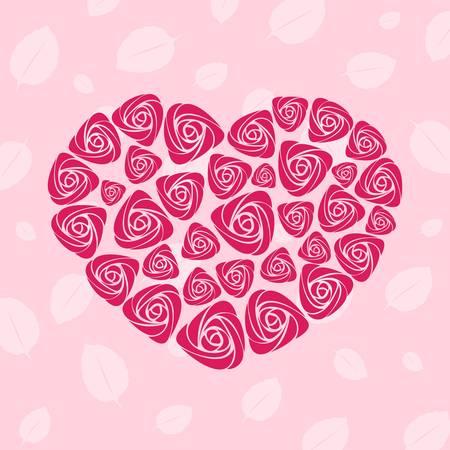 wallflower: Valentine rose heart card
