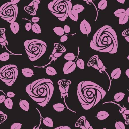 love wallpaper: Fondo transparente vector floral de rosas Vectores
