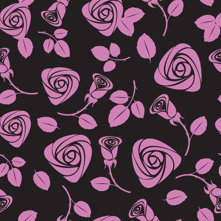 roses wallpaper: seamless floral rose vector background