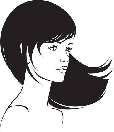 beauty  face girl portrait Vector