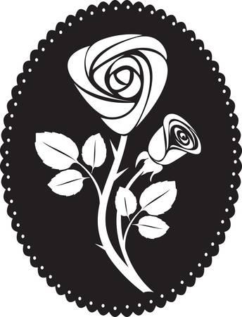 vector rose card Stock Vector - 8772878