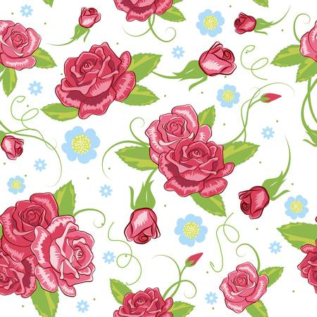 petals: vector rose seamless background Illustration