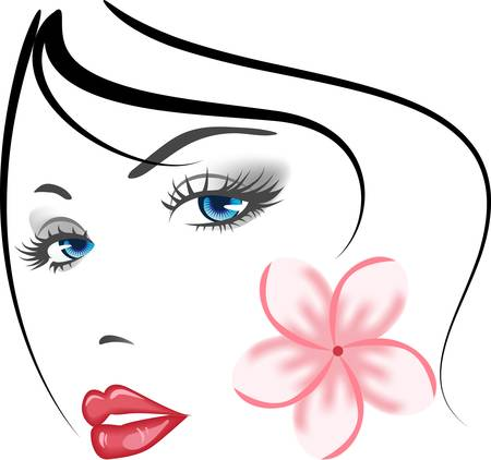 beauty face girl Stock Vector - 8772880