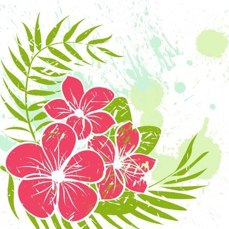 Flower grunge background Vector