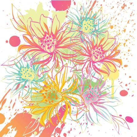 abstract flowers: abstract vector flower background