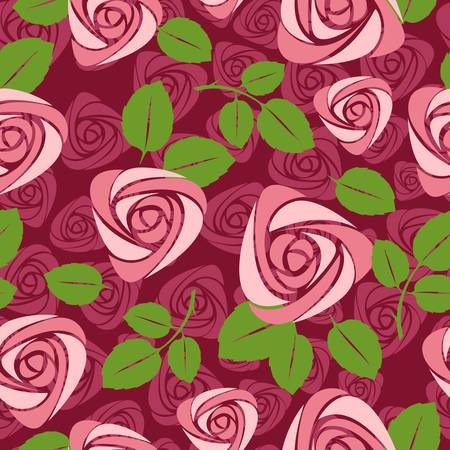 a print: seamless floral rose vector background