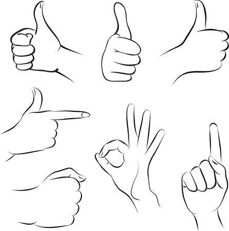 right hand: hands Illustration