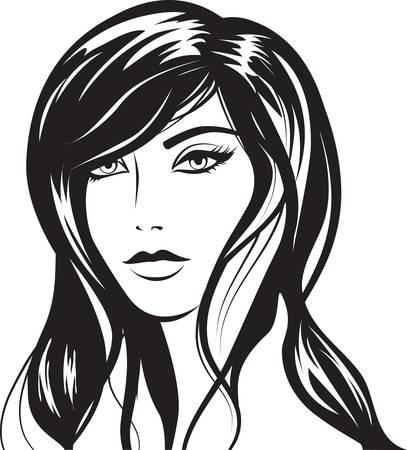 avatars: ragazza Glamour con peli neri