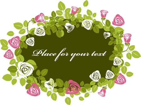 victorian valentine: Greeting floral rose card
