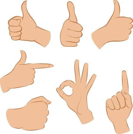 gestos: manos Vectores