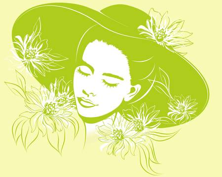 spring girl Stock Vector - 9002345