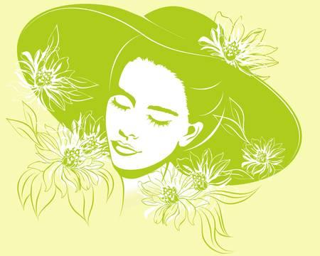 spring girl Vector