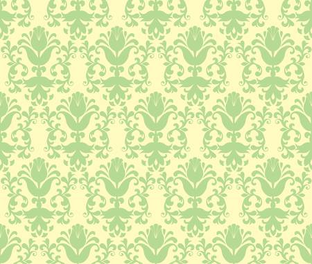 loral light green floral wallpaper Stock Vector - 9093114