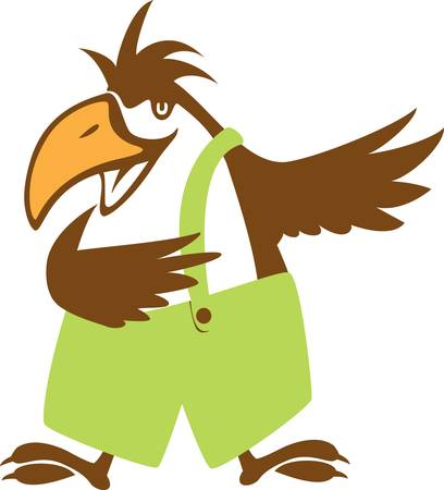 funy: funy bird symbol.vector illustration