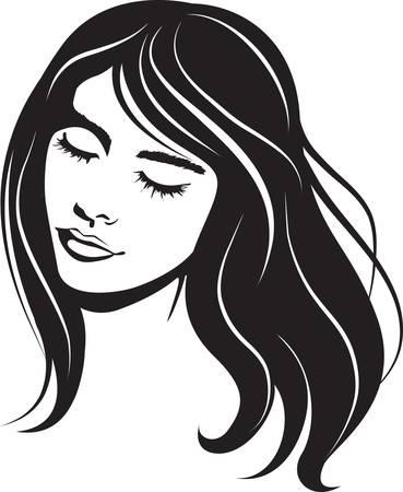beauty vector face girl portrait Vector