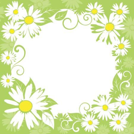 funny spring floral border. Stock Vector - 9295325