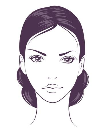 beauty face girl. Stock Vector - 9295322