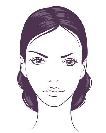 face to face: beauty face girl.