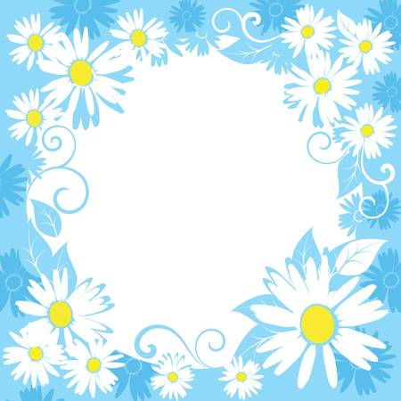 funny spring floral border. Colorful vector illustration Vector