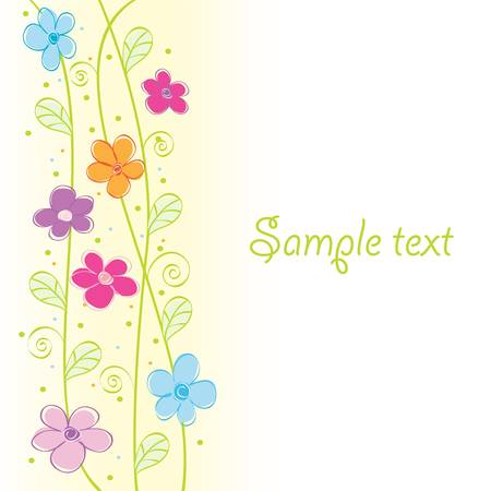 Abstract cute floral card. Colorful vector illustration Stock Vector - 9343442